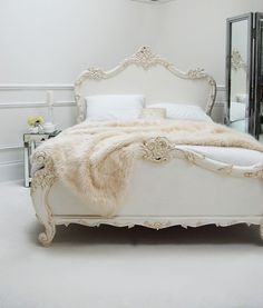 Classical White Rococo Bed | Sweetpea and Willow
