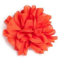 Flor de tela, color Calabaza.