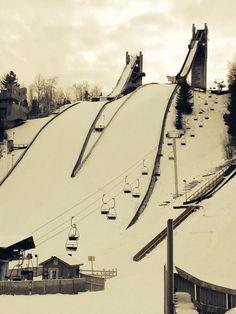 Olympic ski jumps. Lake placid NY