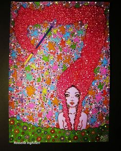 """Mi piace"": 13, commenti: 1 - Rossella Inghilleri (@rossellainghilleri) su Instagram: ""Work on paper 2015 #art #drawing #girl#fantasy#colors #arte#disegno#paper#markers"""