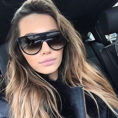 Flat Top Sunglasses, Retro Sunglasses, Sunglasses Women, Oversized Sunglasses, Summer Sunglasses, Black Sunglasses, Kim Kardashian Sunglasses, Aviators Women, Foto Fashion