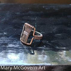 Ring. Bowtie. Size 6.5. Wire Wrapped. Jewelry. Handmade.