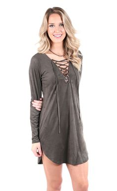 Spring Forward Tunic - Olive