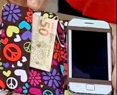 Tutorial porta celular em cartonagem