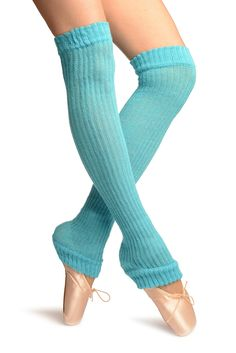 """Blue Double Rib Stitch Dance/Ballet Leg Warmers - Leg Warmers. One Size (45 cm). 100% Acrylic. Similar Products Available, search for """"LissKiss Dance Legwarmers"""". Same Day Shipment. Wide Range Of Colors."""