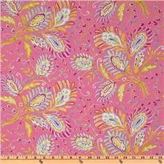 Sunshine linen blend heather pink $15/yd