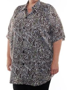 BOP Tops 100% Cotton Poplin Earthtones Tribal Print Short Sleeve Tunic Top W/Shirring by WeBeBop (2X) Bop Tops by We Be Bop,http://www.amazon.com/dp/B00BYG3OG6/ref=cm_sw_r_pi_dp_PuxCrbEAA9104FAD