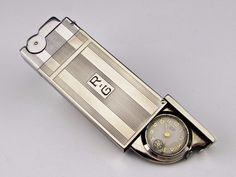 EXTREMELY RARE Vintage ASR Semi-Automatic Lighter With Watch - Working