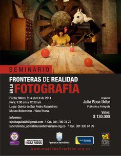 """Seminario """"Fronteras de realidad en la fotografía""""."""