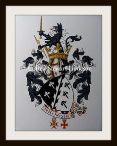 Coats of Arms ( heraldic art, heraldic artist, heraldic painter, custom coats of arms, Heraldry, Heraldic paintings ) hand painted by Andrew Stewart Jamieson
