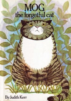 Children's book from 1970 featured on Vintage Kids' Books My Kid Loves. Excerpt: Once there was a cat called Mog and she lived with a family called Thomas. Mog was nice but not very clever. She didn't understand a lot of things. A lot of other things she forgot. She was a very forgetful cat.