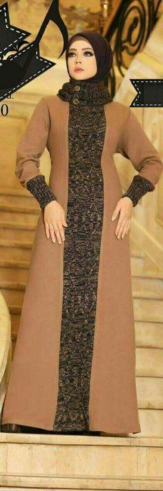 PINTEREST: @MUSKAZJAHAN - Long Dress Fashion, Abaya Fashion, Modest Fashion, Fashion Dresses, Dress With Cardigan, The Dress, Samoan Dress, Muslimah Clothing, Estilo Abaya