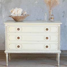 One of a Kind Vintage Commode Louis XVI in Buttercream. #laylagrayce #furnishings