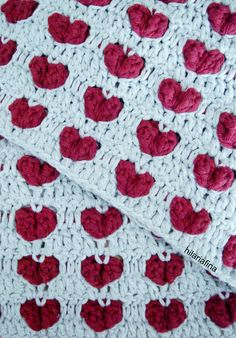 Crochet Heart Stitches ❥ 4U hilariafina  http://www.pinterest.com/hilariafina/