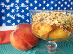 Peach Cobbler for Breakfast!  It blows my mind what one peach plus a microwave can make.