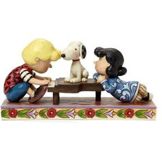 Peanuts by Jim Shore Happiness is a Favorite Song, Schroeder with Lucy Snoopy Figurine