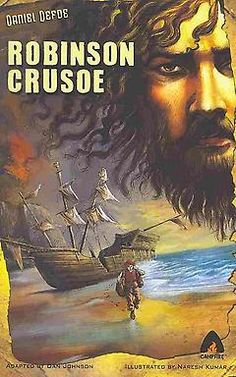 "Read ""Robinson Crusoe"" by Anil CK available from Rakuten Kobo. Robinson Crusoe is not content with his life in England. He is bored and wants to see more of the world. His curiosity c. Robinson Crusoe, Books That Became Movies, Daniel Defoe, Adventure Of The Seas, Science Fiction Books, The Conjuring, Illustration, Graphic Novels, Books"