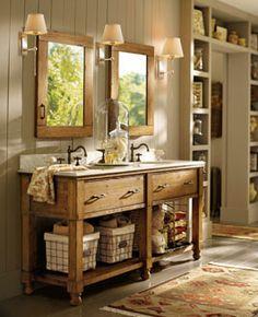 reclaimed russian oak vessel washstand bath collection - grey