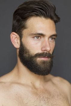 Sexy beard styles > his facial hair is just perfect. A beautiful man!