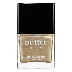 Butter London Nail Lacquer inThe Full Monty - molten metallic gold #sephora #colorwash #SephoraColorWash