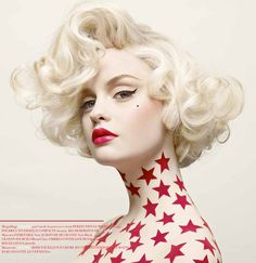 Bombshell hair Red Collector - Vincent Alvarez. MUA Carole Lasnier.