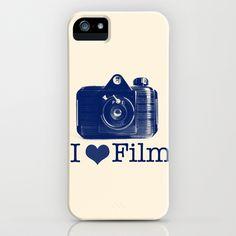 I ♥ Film (Blue/Peach) iPhone Case by istillshootfilm - $35.00