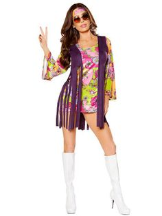 Sexy Adult Groovy Hippie Costume                              …