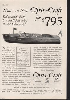 A 1931 Chris Craft Boat Runabout MI Marine Engine | eBay Chris Craft Wooden Boats, Wooden Speed Boats, Boat Companies, Runabout Boat, Classic Wooden Boats, Ahoy Matey, Vintage Boats, Old Boats, Yacht Boat