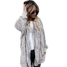 48746664ab KESEE Women Clearance Coat Long Coat Jacket Hoodies Parka Outwear Cardigan  Coat (L