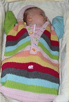 Knitting PATTERN Baby Bunting knitting by theknittingniche