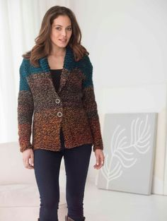 Check out Lion Brand Country Riding Jacket crafting ideas at A. Explore many more such exceptional art & craft products only here. Knitting Patterns Free, Knit Patterns, Free Knitting, Free Pattern, Knitting Yarn, Riding Jacket, Knitted Coat, Knit Jacket, Knit Blazer
