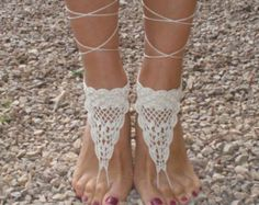 Playa boda sandalias descalzos pie joyería Soleless sandalias