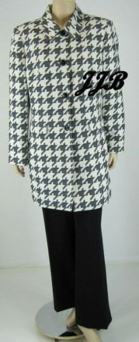 Le Suit Navy/ Ivory Longer length Jacket Coat Pant Suit Sz 8 $200 New 7774 These items or similar items like these are on sale at http:stores.ebay.com/Just-Fashions-Boutique