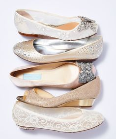 The winter holiday season always brings out the best crop of party shoes, so think about investing in your wedding footwear now. #promshoesideas
