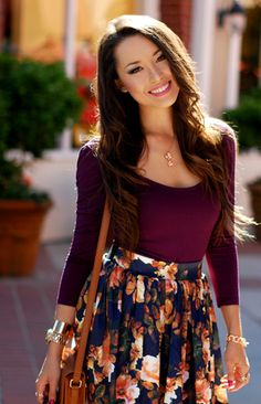 plum and floral