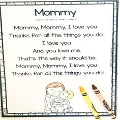Mothers Day Poems for Kids and Gift Ideas