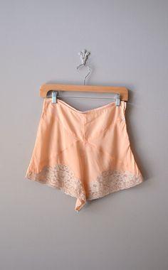 vintage 1940s silk & lace tap pants