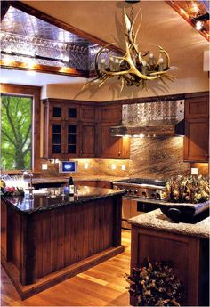 ... FULL ARTICLE @ http://www.architecturedecor.com/2047/kitchen-cabinets-and-counters-for-remarkable-kitchen.html/wonderful-wood-finish-kitchen/