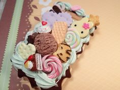 Chocolate Mint Kawaii Birthday Party Decoden Deco by Lucifurious, $32.00
