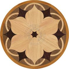 Daisy Medallion Inlay for Hardwood Floors Stone Flooring, Wooden Flooring, Hardwood Floors, Floor Patterns, Tile Patterns, Patterned Furniture, Tiles Texture, Wooden Art, Floor Design