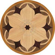 Daisy Medallion Inlay for Hardwood Floors