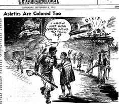 Editorial Cartoons in the Black Press During World War II (click thru for analysis)