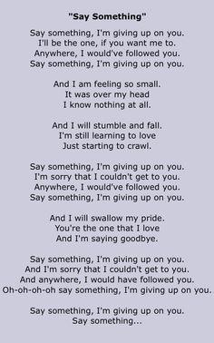//Say Something - A Great Big World & Christina Aguilera #music #song #lyrics