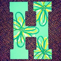 Large Flowered Hand Painted Wooden Letter