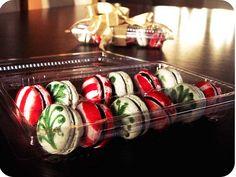 Beautiful painted Christmas Macarons