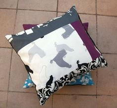Patchwork Pillowcase in Grey and Purple