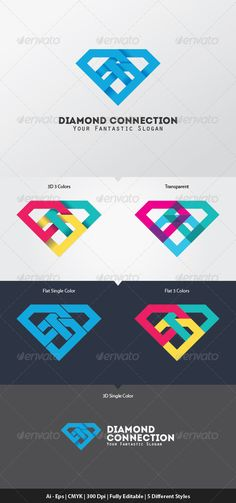 Diamond Connection Logo Template. Download here: http://graphicriver.net/item/diamond-connection-logo-template/5768539