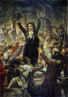 Camille Desmoulins peint par Barrias.                                                                                                                                                                                 Plus