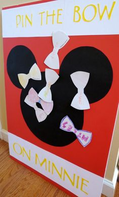 Minnie Mouse Party Pin the Bow