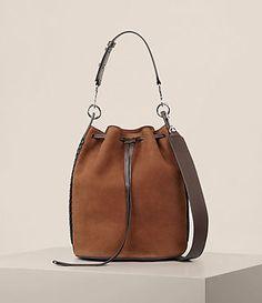 7eb8e6bcb5bc Womens Ray Nubuck Bucket Bag (COFFEE BROWN) - product_image_alt_text_1  Chanel Shoulder Bag, Pink